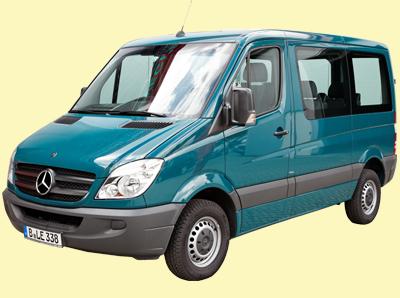 Mercedes Bus Sprinter 9 Sitzer kurz