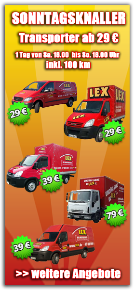 Mietwagen Sonntagsangebote Der LEX Autovermietung In Berlin