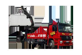 Schwertransport – LKW mit Kran