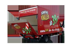 4,2m Transporter mit Ladeklappe 3,5t