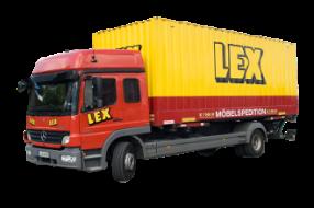 LKW mit Wechselbrücke – Koffer
